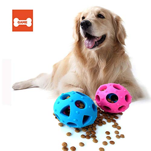 Go Discover Teeth - Huaaag Environmentally Friendly Rubber Dog Toy Food Leaking Food Ball Pet Puppy Training Ball Dog Teeth Cleaning Chew Toys,Interactive,Feeder,Blue