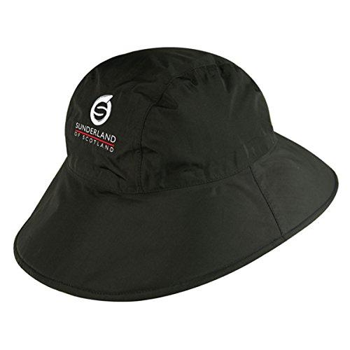 Sunderland Men's and Ladies' Ultra Lightweight Wide Brim Waterproof Golf Hat Black L/XL