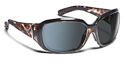7eye by Panoptx Mistral Frame Sunglasses with Polarized Gray Lens, Leopard Tortoise, Small/Large