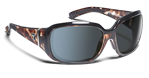 7eye by Panoptx Mistral Frame Sunglasses with Polarized Gray Lens, Leopard Tortoise, - Sunglass Panoptx