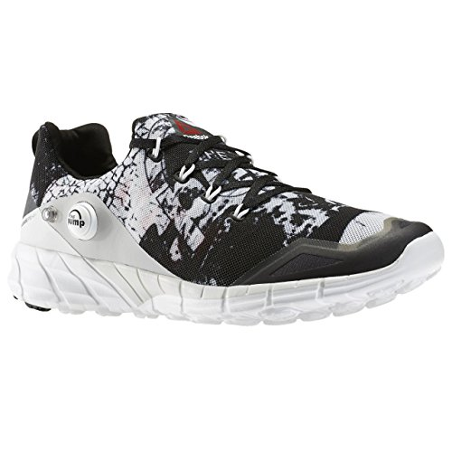 Reebok Zpump Fusion 2.0 Dunes, Zapatillas de Running para Hombre Gris / Blanco / Negro (Steel/Running White/Black/Coal)