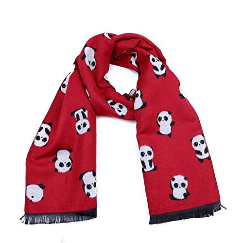Canyixiu Kids Soft Classic Cartoon Pattern Tassel Wild Scarf,One Size Fits Most, for Toddlers, Little Kids, Big Kids (Color : Red)