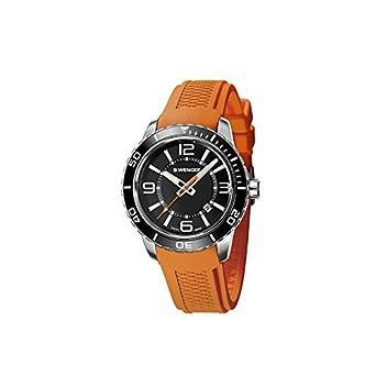 Wenger Reloj Analogico para Hombre de Cuarzo con Correa en Silicona 01.0851.114: Amazon.es: Relojes