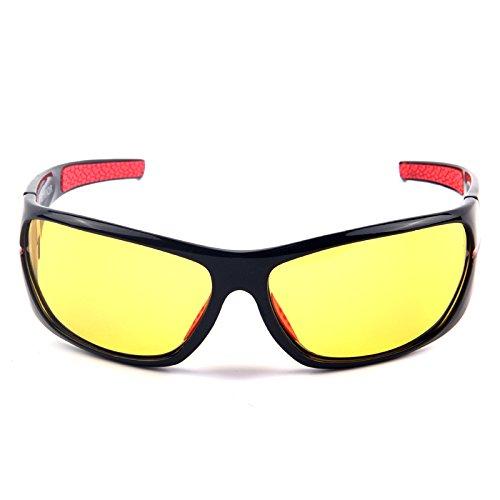 TIANLIANG04 de amarillo hombres Grigio hombre reduce Nocturna Visión deslumbramiento lente gafas nocturna el amarilla Gafas sol color polarizados gafas polarizadas de para de Gafas conducción rrxwgdOqS