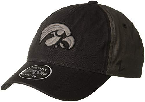 - Zephyr NCAA Iowa Hawkeyes Men's Moonscape Relaxed Cap, Adjustable, Grey/Team Color