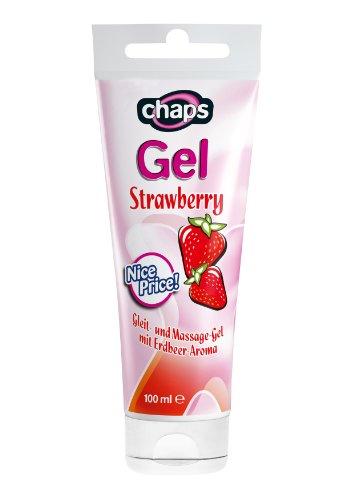 MedDevice chaps Strawberry Gleitgel und Massagegel 100ml mit Erdbeer-Aroma