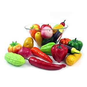 Liberty Imports Set of 24 Realistic Artificial Foam Decor Faux Vegetables Decorative Food Set 6