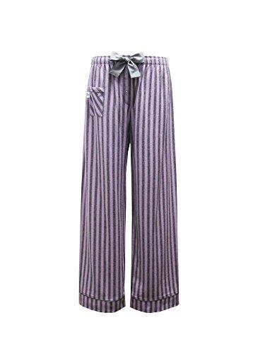 Pajama Flannel Striped Pants (Boxercraft Womens Cotton Flannel Striped Sleep Pants, 2XL (19), Purple and Grey Striped Fantasy)