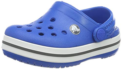 Crocs Kids' Crocband Clog, Bright Cobalt/Charcoal, 3 M US Little