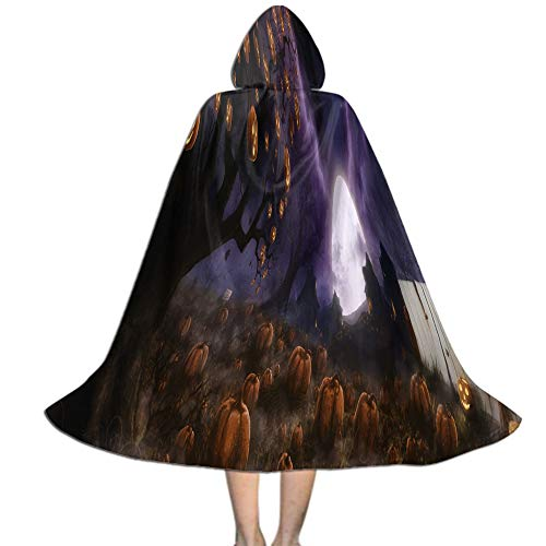 Khdkp Kids Hooded Cloak, Costumes, Cosplay and More Halloween Decoration - L