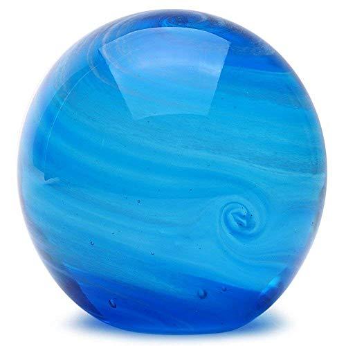 Glass Handmade Large Paperweight - Neptune Glow - 4