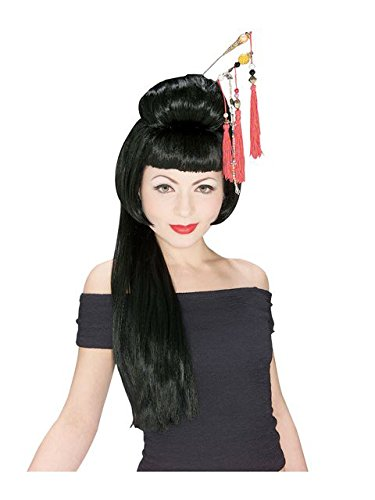 (Rubie's China Girl Wig, Black, One)