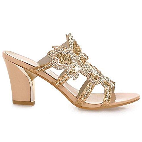 Mules Zanpa Verano Mujer Sandalias Gold qnAAxBEwP1