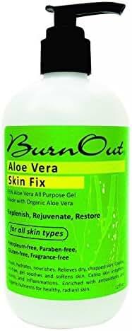 Burn Out Aloe Vera Skin Fix Gel, 12 Ounce