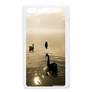 Two Swans and a Goose Ipod Touch 4 Cases Protective Cute for Girls, Ipod Touch 4 Cases Cute [White]