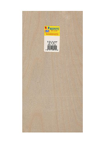 Midwest Thin Birch Plywood aircraft grade 1/32 in. 6 in. x 12 in. [PACK OF 3 ]