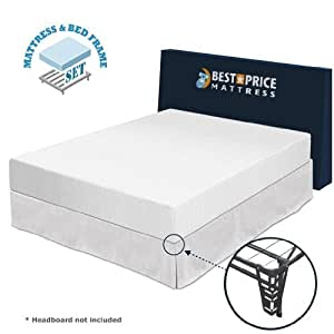 best price mattress twin size 10 memory foam mattress bed frame box s. Black Bedroom Furniture Sets. Home Design Ideas