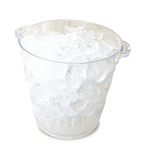 Co-Rect Round Top with Handle Acrylic Ice Buckets, 3.6 quart, Clear