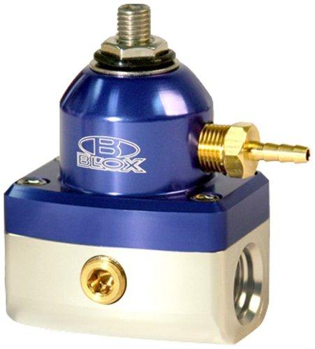 Blox Racing BXFU-00411-BLS Competition Blue/Silver 3-Port Adjustable Fuel Pressure Regulator