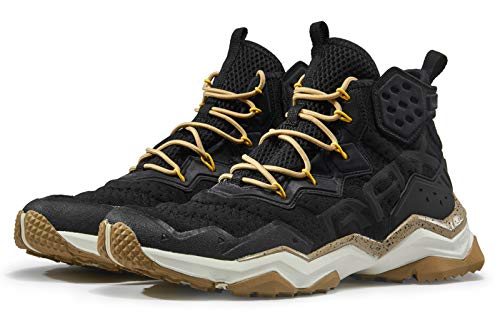 RAX Men's Wolf Outdoor Breathable Hiking Boot Camping Backpacking Shoes Lightweight Sneaker Black