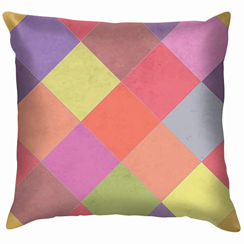 Textured Argyle Eps 10 Throw Pillow Case Cushion Cover Pillowcase Watercolor for Couch 16X16 Inch