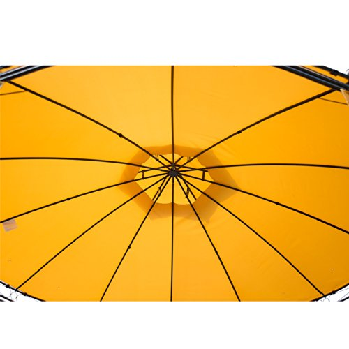 Outsunny Round Outdoor Patio Canopy Party Gazebo with Curtains, 11-Feet, Orange by Outsunny (Image #2)