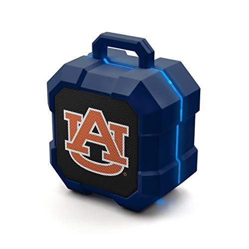 NCAA Prime Brands Group  Shockbox LED Wireless Bluetooth Speaker, Auburn Tigers