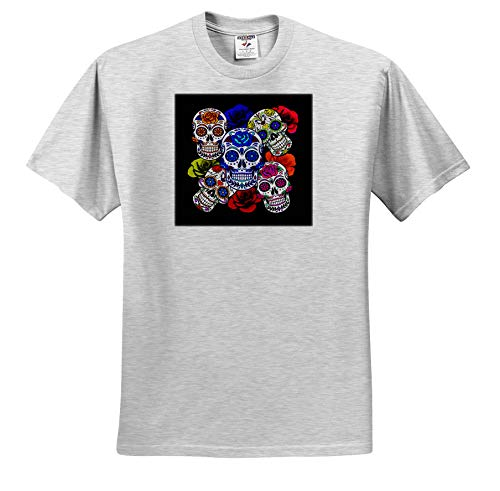 Sandy Mertens Halloween Designs - Sugar Skulls and Roses Mardi Gras, Halloween, 3drsmm - T-Shirts - Toddler Birch-Gray-T-Shirt (4T) (ts_290213_33)]()