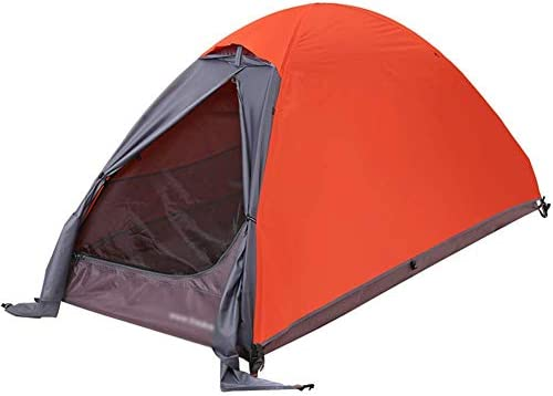 YXYOL Tienda de la Familia, Camping al Aire Libre la Sola Tienda de Dos Pisos en Tres-Temporada de Camping Poste de Aluminio Tienda de campaña, Ocio Pareja de Camping Suministros