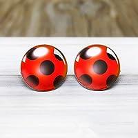 wangxiyan Fashionable Miraculous Ladybug Earrings - Hypoallergenic Nickel Free Earrings Sale