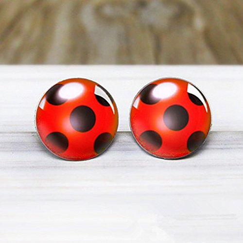 wangxiyan Fashionable Miraculous Ladybug Earrings - Hypoallergenic Nickel Free Earrings -