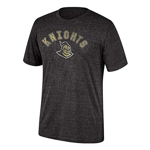(Top of the World NCAA Men's Central Florida Golden Knights Dark Heather Heritage Tri-blend Tee Black Heather Large)