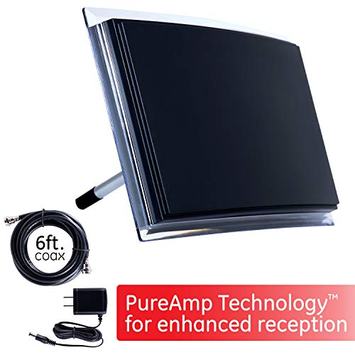GE Black Indoor TV Antenna