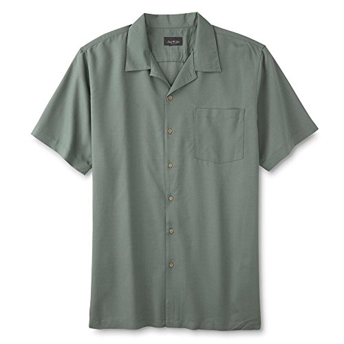David Taylor Collection Men's Big & Tall Button-Front Shirt Size XLT (Taylor Collection)