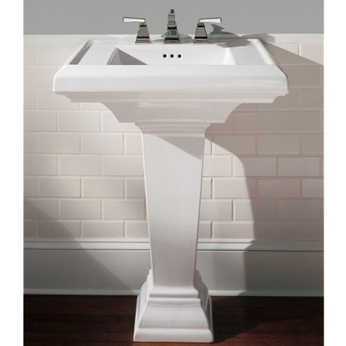 American Standard 0780800020 Town Square 27-Inch Pedestal Bathroom Sink with 8-Inch Faucet Spacing White