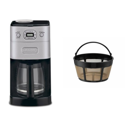 Cuisinart DGB-625BC Grind-and-Brew 12-Cup Automatic Coffeemaker and Filter Bundle Popular