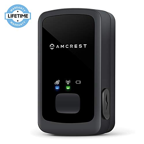 Amcrest AM-GL300 V3 Portable Mini Real-Time GPS Tracker for Vehicles, Cars, Kids, Persons, Assets - Hidden Tracking Device with Unlimited Text/Email Alerts, Geo-Fencing, 10-14 Day Battery, No Contract by Amcrest