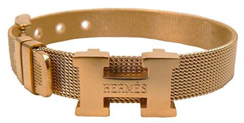 new-hm0101lb-h-logo-mesh-bracelet-gold