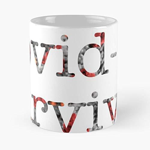 Survivor Coronavirus Pandemic Pandemia Virus China 19 Covid - - Taza de café de regalo de moda superventas negra, blanca, cambia de color 11 onzas, 15 onzas para todos: Amazon.es: Handmade