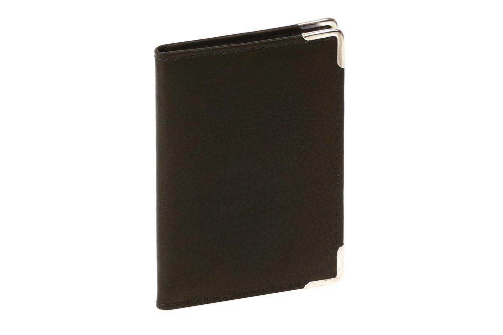 Piel aut/éntica Tarjetero para tarjetas de cr/édito LEAS LEAS Card-Collection negro