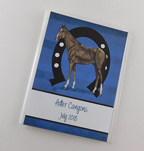 Horse Photo Album IA#904 Race Shoe 4x6 or 5x7 Pictures Personalized Gift Ranch Cowboy by JaDazzles