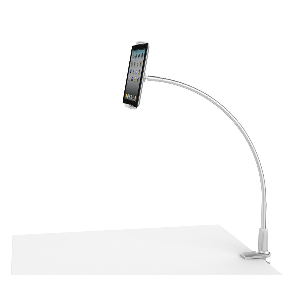 Mingo Labs Phone and Tablet Desktop Mount with 2'' Clamp, Silver (LP-7S)