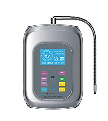 Alkaline Water Ionizer Machine Home Water Filtration System PH 4.0-10.5 With Speaker, Large LED Screen, 8 Water Settings, Up to -680mV ORP, 9000 Liters Per Filter