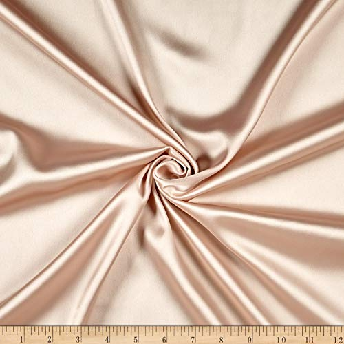 Ben Textiles Inc. Monaco Stretch Duchess Satin Blush 149, Fabric by the Yard