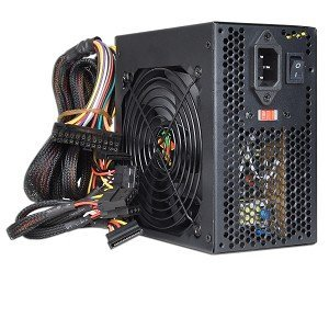 (Logisys Corp. 550W 120mm Ball Bearing Fan with PSU ATX 550 Power Supply PS550E12BK, Black)