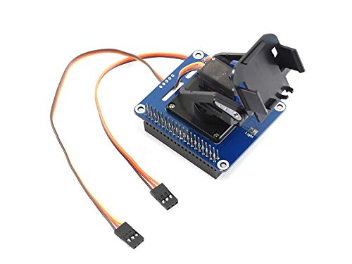 (waveshare 2-DOF Pan-Tilt HAT Kit for Raspberry Pi, with Micro Servos, Onboard PCA9685 PWM chip and TSL2581 Ambient Light Sensor, Control Pi Camera Movement and Sense Light Intensity with I2C)