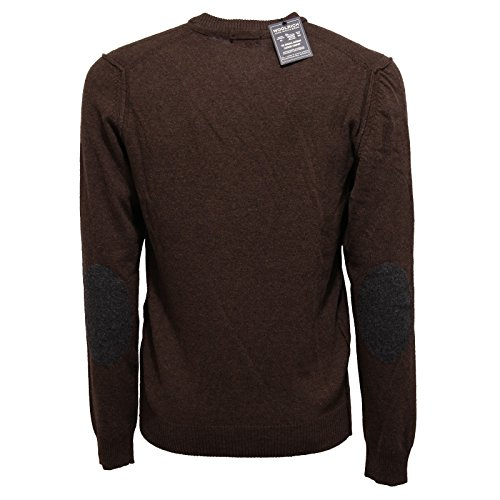 Maglione V Uomo Men Woolrich Marrone Brown 6072w Wool Sweater neck U6ZwZq