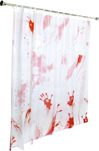 Kangaroo's Bloody Shower Curtain Halloween Decoration