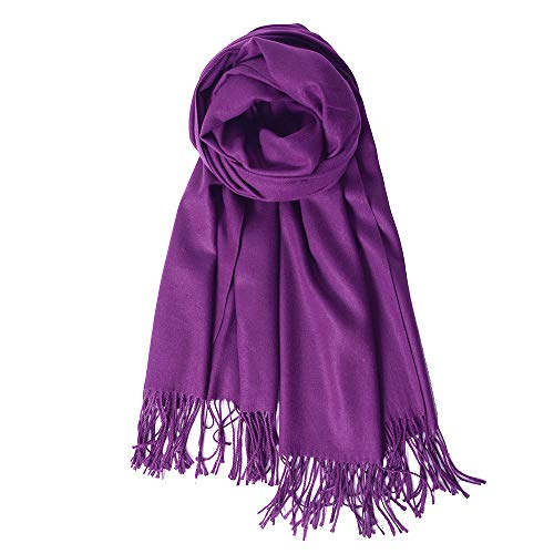 (QBSM Womens Pashmina Purple Scarf Formal Party Bridal Evening Dress Shawls and Wraps)