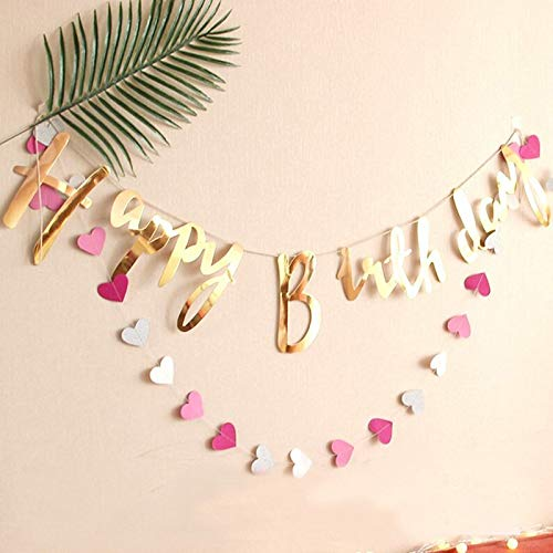 Flag Paper - Bunting Banners Flag Happy Birthday Banner Garland Sign Party Decoration Diy Baby Decorations - Streamers Banners Streamers Confetti Birthday Balloon Organza Table Runners Party
